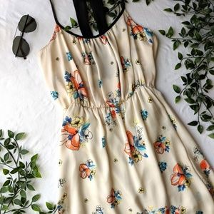 Silky High Low Floral Summer Dress